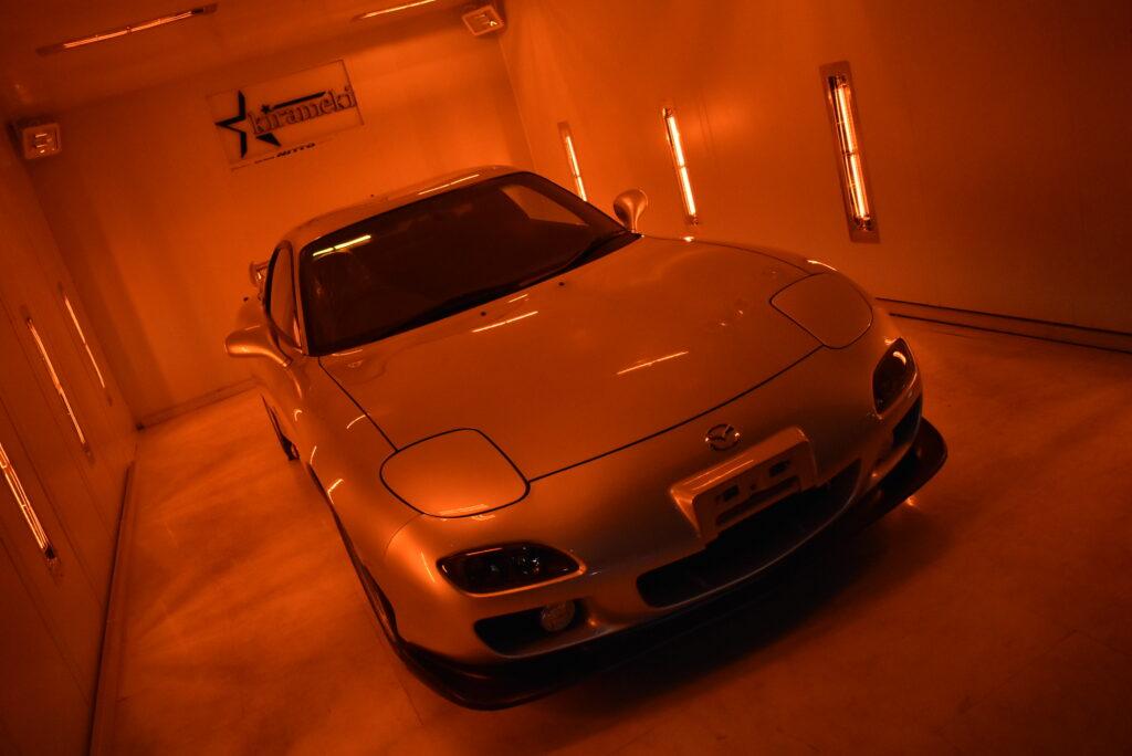 マツダRX7カーコーティング大阪兵庫神戸ガラスコーティング大阪兵庫神戸